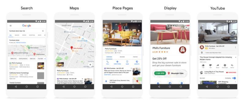 קמפיינים מקומיים של גוגל במדיות השונות